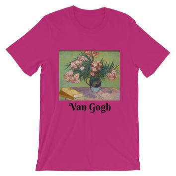 Vincent Van Gogh Roses in a Vase Short-Sleeve Unisex T-Shirt