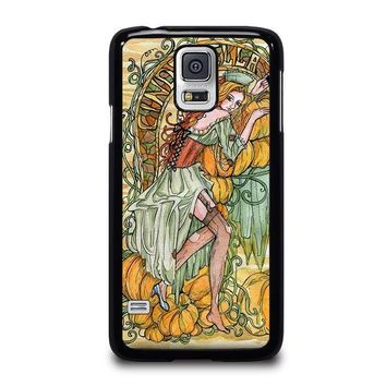 cinderella art disney samsung galaxy s5 case cover  number 2