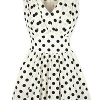 Free shipping HELL BUNNY MARIAM polka dot 50's prom DRESS swing RED & WHITE 8-16