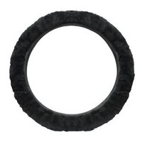 Pilot SW-245E Black Sheep Skin Steering Wheel Cover