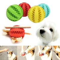 5cm Pet Dog Durable Rubber Watermelon Ball Bite Resistant Chew Tooth Cleaning Toys Mascotas Cachorro Chien Honden Hond Perros