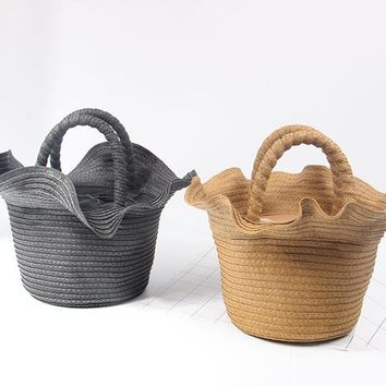 woven bag beach Handbag