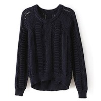 ZLYC Women Teens Grils Classic Round Collar Long Sleeve Pullover Knit Sweater
