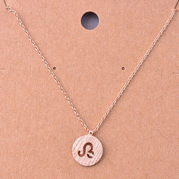 Leo Rose Gold Zodiac Charm Necklace