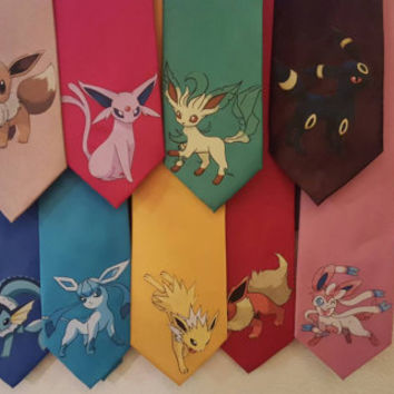 Eeveelution men's ties