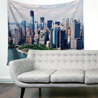 New York City Manhattan City Skyline Urban Boho Wanderlust Unique Dorm Home Decor Wall Art Tapestry