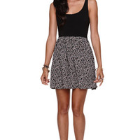 LA Hearts Cutout Back Mixed Fabric Dress at PacSun.com