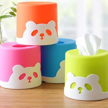 Household articles plastic paper towel  Car Home circle Shaped Tissue Box Container Towel Napkin Tissue Holder