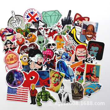 100pcs Car Styling decal Stickers for Graffiti Car Covers Skateboard Snowboard Motorcycle Bike Laptop Sticker Bomb Accessories
