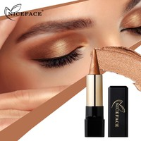 Nice Face Brand Makeup Eyes Glitter Powder Eyeshadow Pencil Waterproof Shimmer Pigments Metallic Single Eye Shadow Make Up Pen