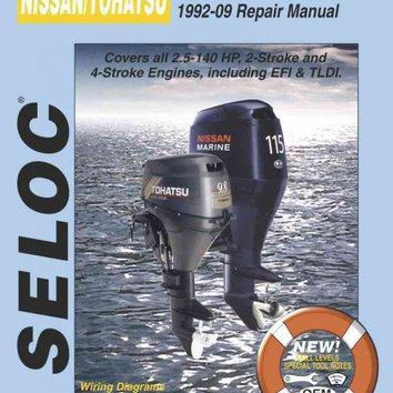 Nissan/Tohatsu Outboards 1992-09 Repair Manual: All 2-Stroke & 4-Stroke Models