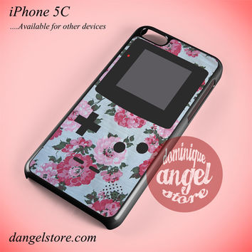 Floral Vintage Gameboy Phone case for iPhone 5C and another iPhone devices