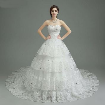 Wedding Dress With Appliques Sequined Sweetheart Off The Shoulder Wedding Dresses