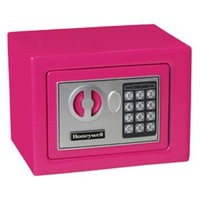 Honeywell 5005P Digital Steel Compact Security Safe (.19 cu') - Pink