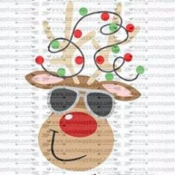 """Ready to Press Heat Transfers-- """"Mr. Cool Reindeer"""""""
