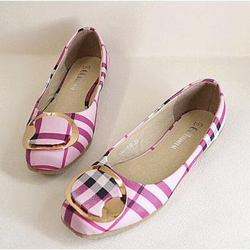 Plus Size Bow Flats Shoes