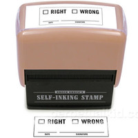 RIGHT / WRONG SELF-INKING STAMPER