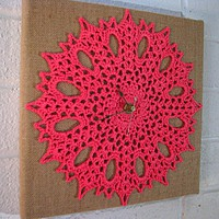 Lace and Burlap Clock from Heritage Heartcraft