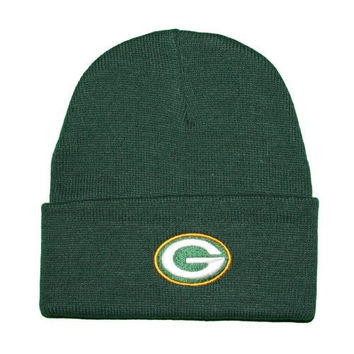 NFL Green Bay Packers Green Classic Cuffed Knit Winter Beanie Hat