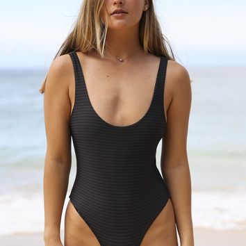 ACACIA Swimwear 2018 Palm Springs One Piece in Night Stripe