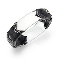 Alexis Bittar - Cubist Lucite & Crystal Chevron Sectioned Medium Bangle Bracelet - Saks Fifth Avenue Mobile