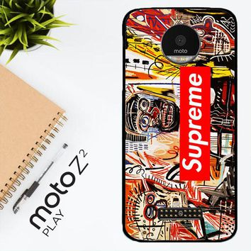 Supreme To Release Collection Featuring Basquiats V1635 Motorola Moto Z2 Play Case