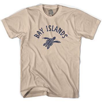 Bay Islands Beach Sea Turtle Adult Cotton T-shirt