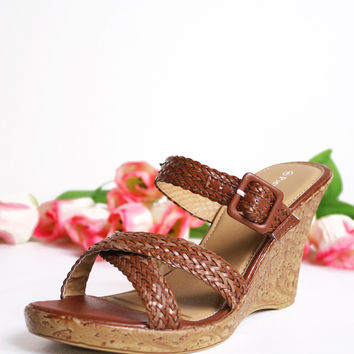 Braided Brandy Wedge