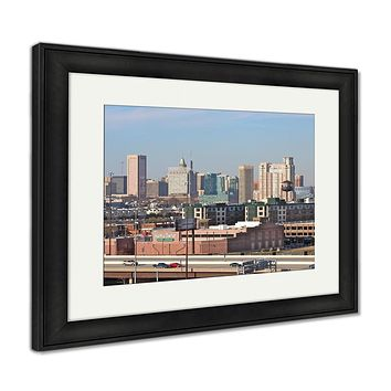 Framed Print, Baltimore City Skyline