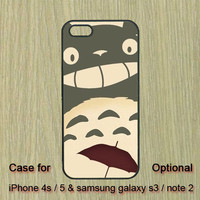 My Neighbor Totoro -- iphone 5 case , iphone 4S case , Samsung Galaxy S3 case , Galaxy note 2  case