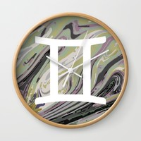 Gemini Wall Clock by KJ Designs