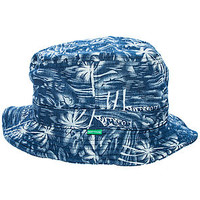The Indigo Palm Bucket Hat in Blue