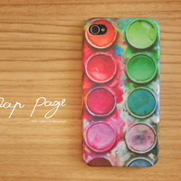 iPhone 4 case , iPhone 4s case , and iPhone 3gs case mobile Case handmade : Paint box