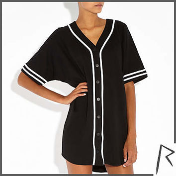 Black Rihanna jersey G4LIFE shirt dress - dresses - rihanna for river island - women