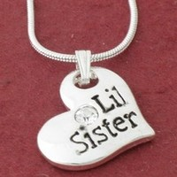 LITTLE SISTER Heart Pendant Necklace