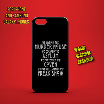 HORROR FAN Design Custom Phone Case for iPhone 6 6 Plus iPhone 5 5s 5c iphone 4 4s Samsung Galaxy S3 S4 S5 Note3 Note4 Fast!