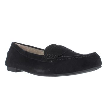 White Mountain Markos Casual Penny Loafers, Black, 8.5 US