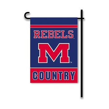 2-Sided Country Garden Flag Mississippi Rebels - 83216