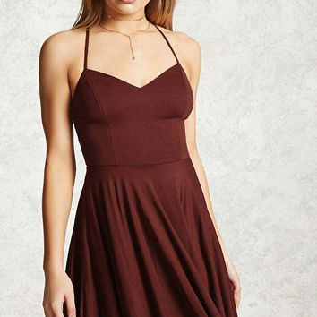 Cross-Back Cami Dress