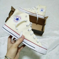 Converse All Star Sneakers canvas shoes for Unisex sports shoes High-tops Beige