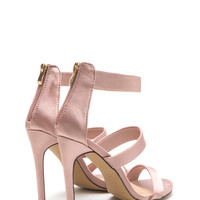 Straight To The Top Strappy Satin Heels GoJane.com