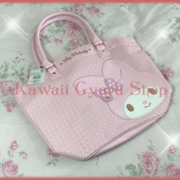 My Melody-Sanrio Woven Faux Leather Tote (NwT) from Kawaii Gyaru Shop