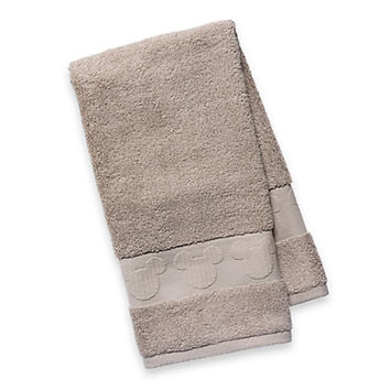 Mickey Mouse Icon Hand Towel - Beige   Disney Store