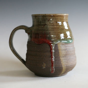 Coffee Mug, 19 oz, handmade ceramic cup, tea cup, coffee cup, handthrown ceramic , stoneware pottery mug, unique coffee mug, tea mug