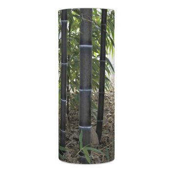 Black Bamboo Floral Photo Flameless Candle
