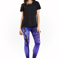 Womens Purple Rain Leggings