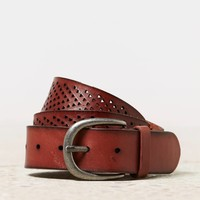 AEO Perforated Pyramid Belt | American Eagle Outfitters