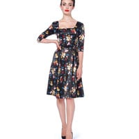 Voodoo Vixen Old Masters Flare Dress
