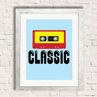 Classic Cassette Tape - Retro Music - Art Print - Hip Hop - Music