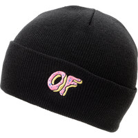 Odd Future OF Donut Black Fold Beanie at Zumiez : PDP